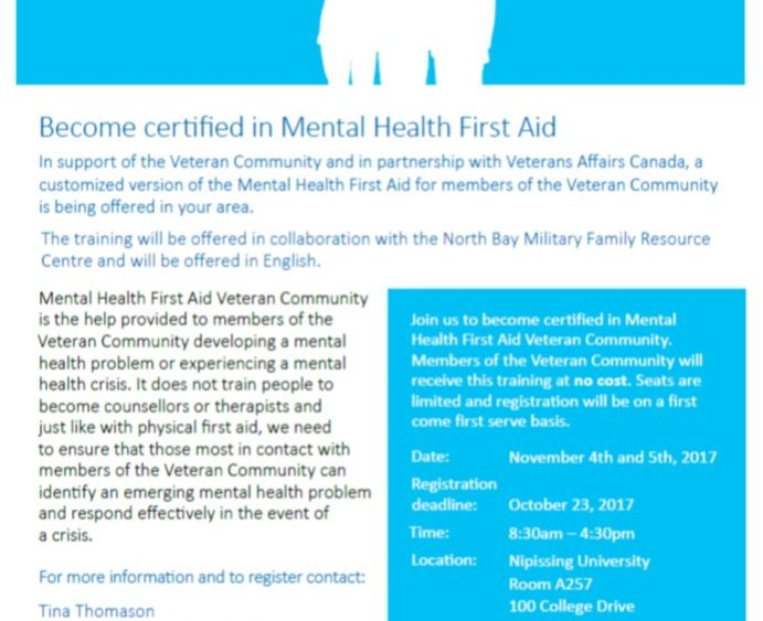 Mental Health First Aid Training For The Veteran Community Mfrc